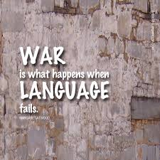 war and language
