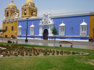 Colourful view from Plaza de Armas